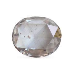0.39 Silver Pink Oval Rose-Cut Lab Diamond
