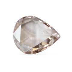 0.40 Silver Pink Pear Rose-Cut Lab Diamond