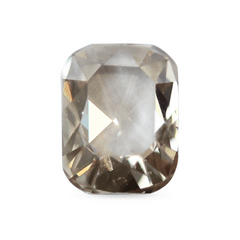 0.42 ct Silver Pink Cushion Rose-Cut