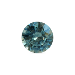 0.49 Deep Teal Blue Round Brilliant Cut Montana Sapphire - Fairtrade Jewellery Co.