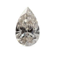 0.50 Faint Champagne Pear Brilliant Laboratory Grown Diamond