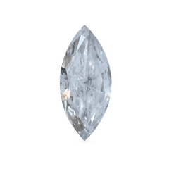 0.50 ct Ash Grey Marquise Cut Rustic Diamond