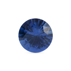 0.52 ct Deep Water Blue Round Brilliant-Cut Madagascar Sapphire