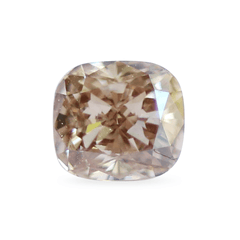 0.55 Terracotta Brown Cushion Lab Diamond