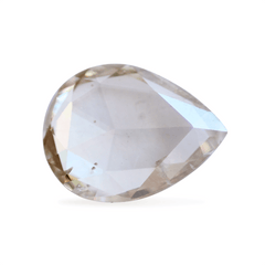 0.56 ct Pear Rose-Cut Smoky Beige Diamond
