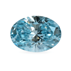 0.56 Oval Fancy Light Blue SI1 Lab-Grown Diamond