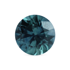 0.58 Teal Blue Round Montana Sapphire
