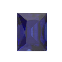0.66 ct Deep Water Blue Rectangular Modified Brilliant Madagascar Sapphire