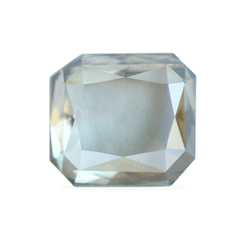 0.70 Silver Bay Leaf Octagon Rose Cut Lab Diamond