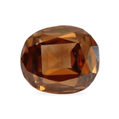 0.70 Orange Brown Vintage Cushion Diamond