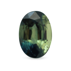 0.70 Bicolour Green Yellowish Oval Mixed-Cut Sapphire