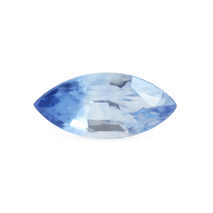 0.74 Blue to Colourless Bicolour Marquise-Cut Sapphire