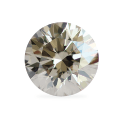 0.80 Honey Brown Round Brilliant Lab Grown Diamond