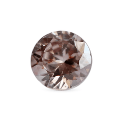 0.89 Pink Tea Rose Round Brilliant Zircon