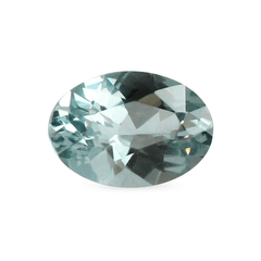 0.89 Spring Meadow Light Greenish Blue Oval Modified Brilliant Cut Montana Sapphire