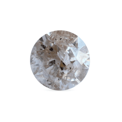 0.90 ct Silver Pink Round Rustic Laboratory Grown Diamond
