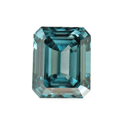 0.92 Deep Greenish Blue SI2 Emerald-Cut Lab-Grown Diamond