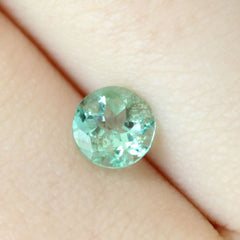 0.75 Mint Green Round Modified Brilliant Mined Emerald