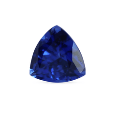 0.54 ct Dark Blue Trillion Mixed Cut Chatham Grown Sapphire