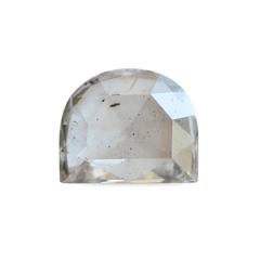 0.57 ct Smokey Beige Half Moon Rose-Cut Diamond