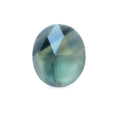 0.60 ct Blue and Yellow Oval Rose Cut Australian Sapphire