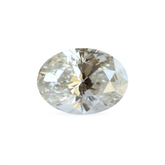 0.71 Light Beige SI1 Oval Brilliant Laboratory Grown Diamond