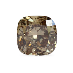 0.79 ct Fancy Yellow-Brown Cushion Modified Brilliant Recycled Diamond - Fairtrade Jewellery Co.