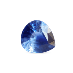 0.91 ct Very Round Pear Colour Zone Blue Sapphire