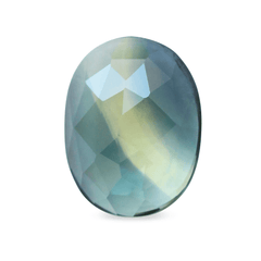0.97 Blue and Yellow Oval Rose Cut Australian Sapphire