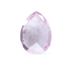 0.99 Pink Champagne Pear Rose Cut  Chatham Grown Sapphire