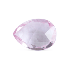 0.99 Pink Champagne Pear Rose Cut  Chatham Grown Sapphire - Fairtrade Jewellery Co.