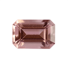 1.00 Peachy Pink Emerald-Cut Tourmaline