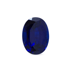 1.06 ct Dark Blue Oval Mixed Gem-Cut Chatham Laboratory Grown Sapphire