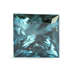 1.06 Deep Grey/Green Blue Princess Cut Lab Grown Diamond