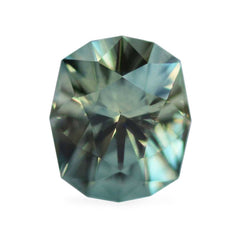 1.08cts Bay Leaf Green Antique Octagonal Cut Montana Sapphire
