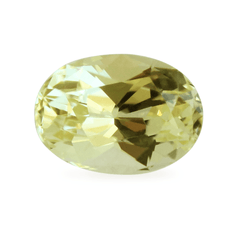 1.13 AKARA Certified Oval Waterlily Yellow Freesia Sapphire