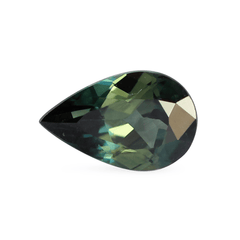 1.14 Green Pear Australian Sapphire - Fairtrade Jewellery Co.