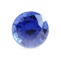 6 mm Medium Blue Round Mixed-Cut Chatham Created Sapphire