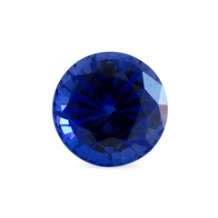 1.18 ct Medium Blue Round Mixed Gem-Cut Chatham Laboratory Grown Sapphire