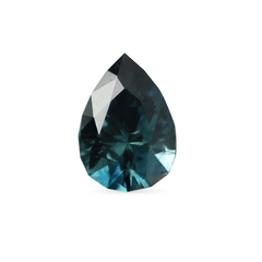 1.25 Deep Teal Pear Brilliant Montana Sapphire - Fairtrade Jewellery Co.