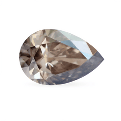 1.32 Raven Grey Pear Shaped Lab Grown Diamond