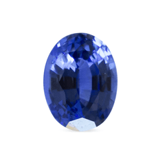 1.59 ct Light Blue Chatham Oval Mixed Cut Lab Sapphire