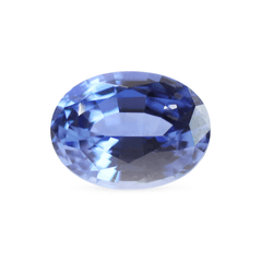 1.62  Light Blue Oval Chatham Created Sapphire