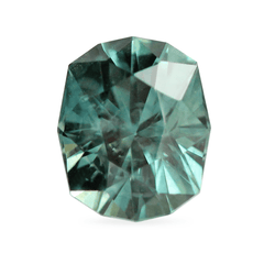 1.71 Peacock Blue Green Fancy Octagonal-Cut Montana Sapphire