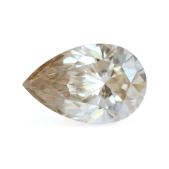 1.71 ct K Champagne Pear-Cut Lab Diamond