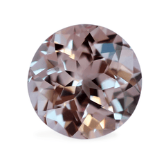 1.72cts Chatham Round Gem-Cut Champagne Pink CS1 Sapphire