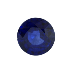 1.77 ct Dark Blue Round Mixed-Cut Generic Laboratory Grown Sapphire
