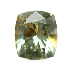 1.80 Green Yellow/Orange Cushion-Cut Montana Sapphire