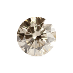 1.81 ct Honey Brown Round Brilliant Diamond
