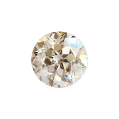 1.03 ct Fancy Soft Brown SI2 Sirius Star Round Cut Vintage Diamond